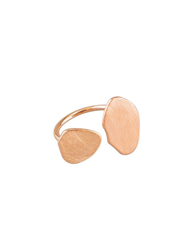 Rose Gold Pebble Ring