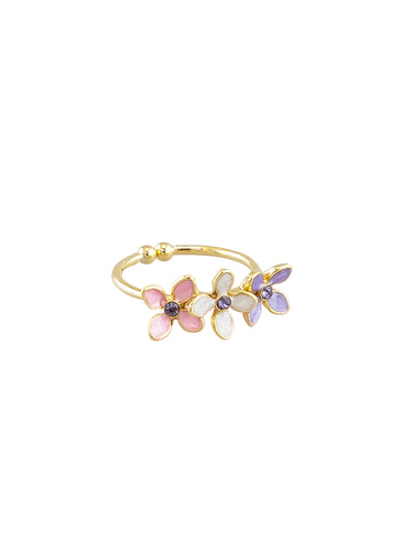 Trio of Flowers Ring