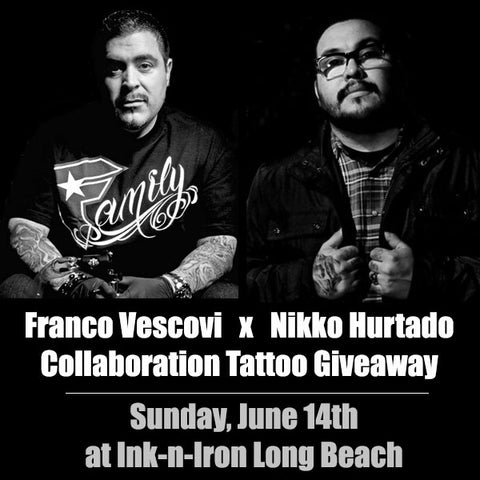 Franco Vescovi x Nikko Hurtado Collaboration Tattoo Giveaway at Ink-n-Iron