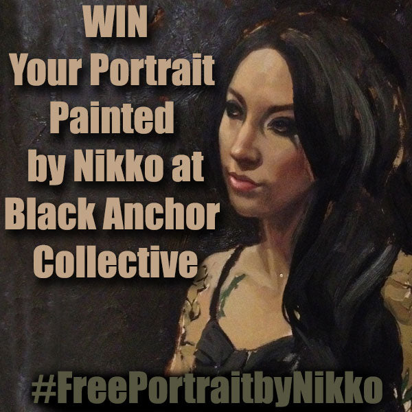 WIN Your All Prima Portrait Painted by Nikko Hurtado at Black Anchor Collective