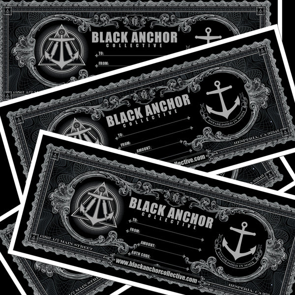 Black Anchor Gift Card