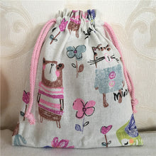 Load image into Gallery viewer, Cotton Linen Drawstring - Animal Bear