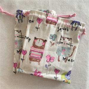 Cotton Linen Drawstring - Animal Bear