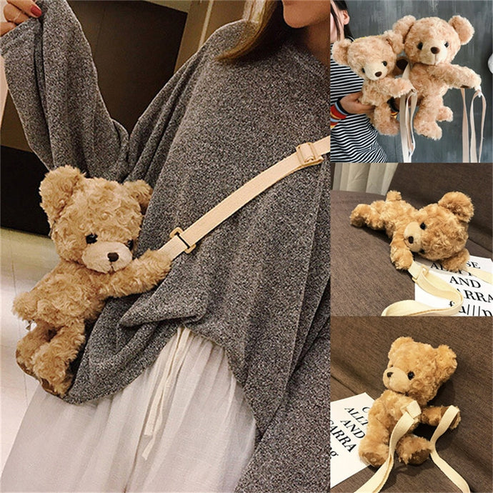 Cute Smile Bear Soft Shoulder Bag