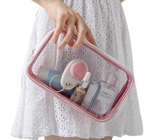 Load image into Gallery viewer, Clear Toiletry Bag With Zipper - Carry On - Carry On