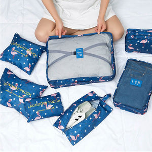 7Pcs Travel Organizer Set