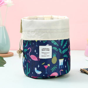 Round Travel Cosmetic bag