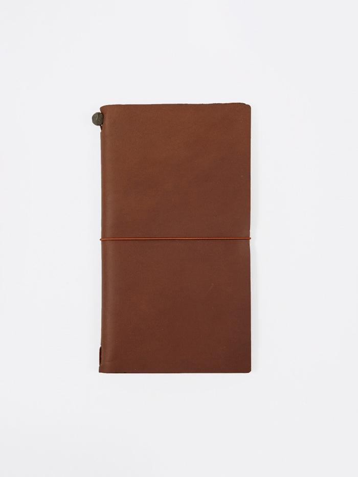 Midori Midori Travelers Notebook - Brown - Brown