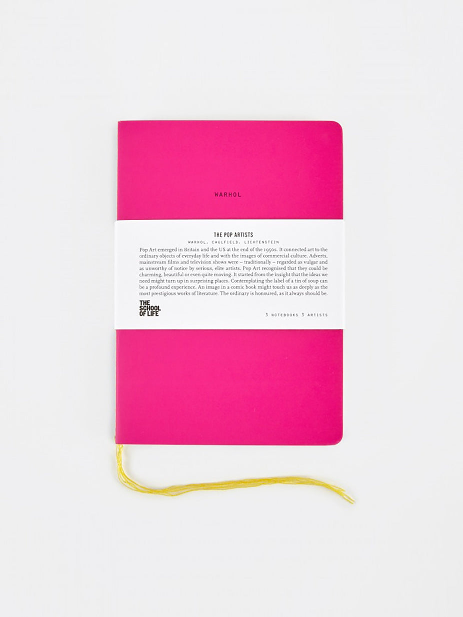 The School of Life The School of Life School of Thought Notebooks - The Pop Artists