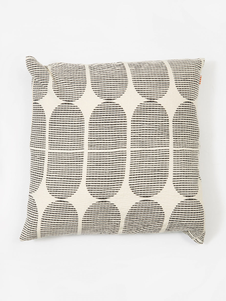 Afroart Afroart Tile Cushion 50x50 - White/Black - Black