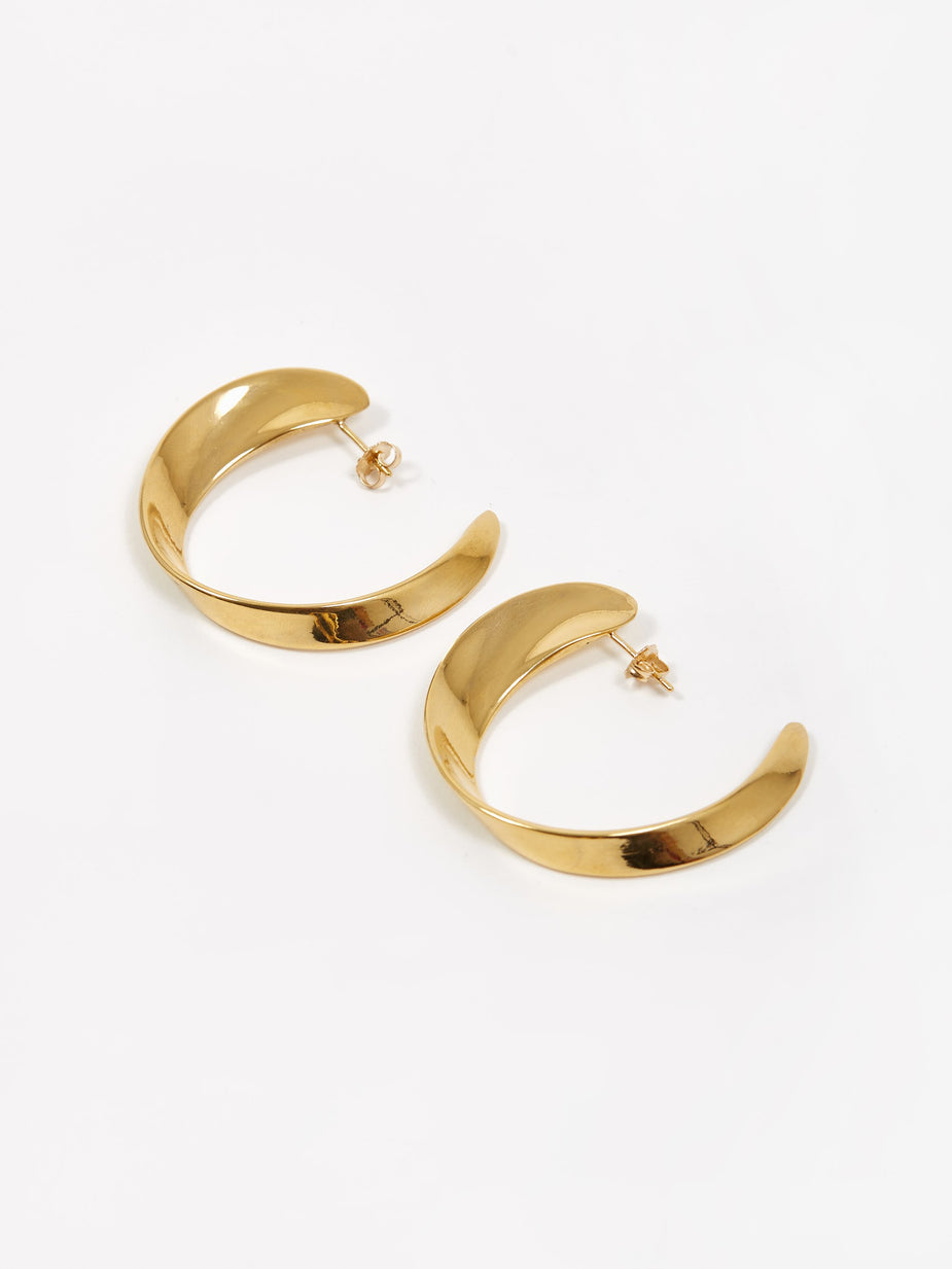 AGMES AGMES Daphne Hoop Earrings - Gold - Gold