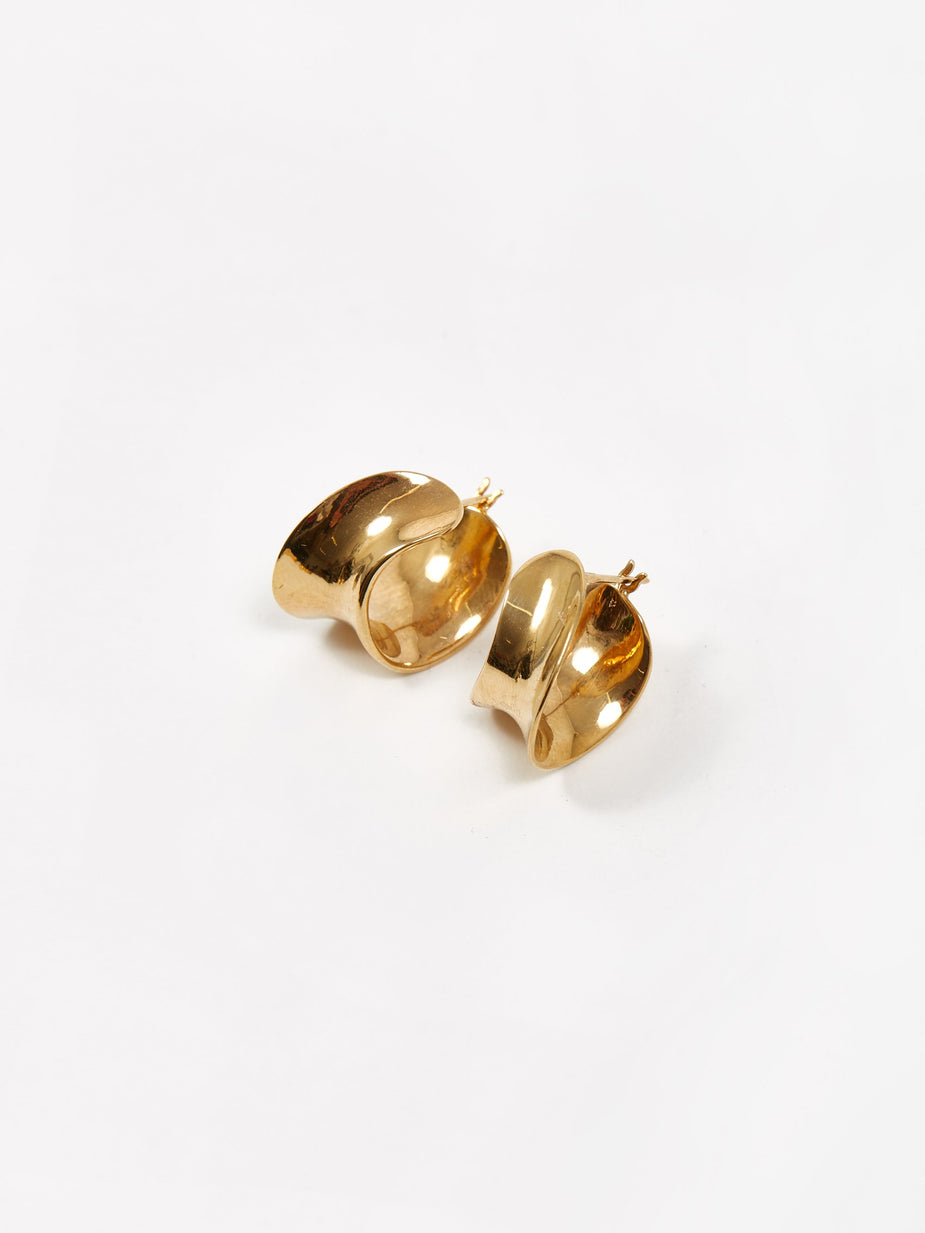 AGMES AGMES Mini Laila Hoop Earrings - Gold - Gold