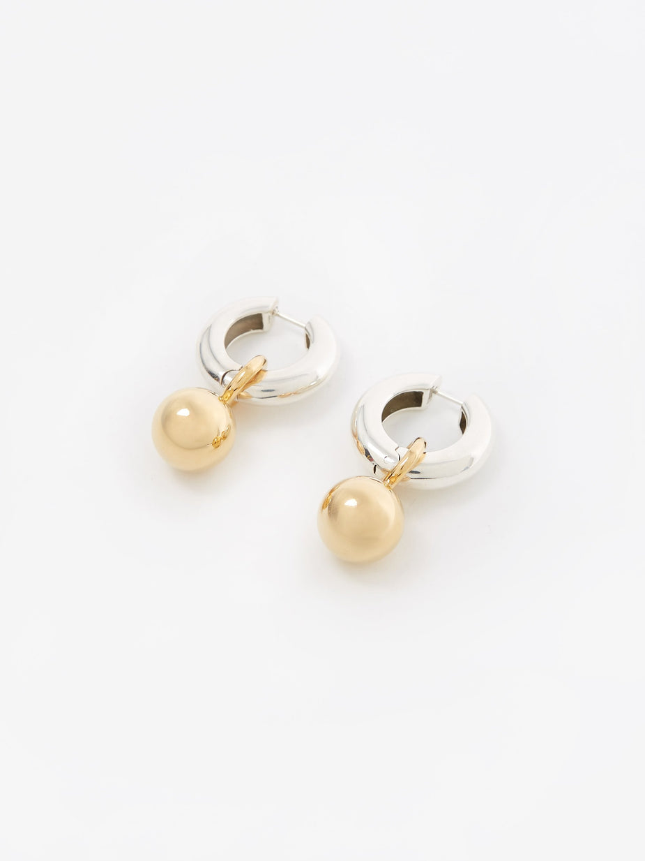 AGMES AGMES Sonia Earrings - Silver/Gold - Gold