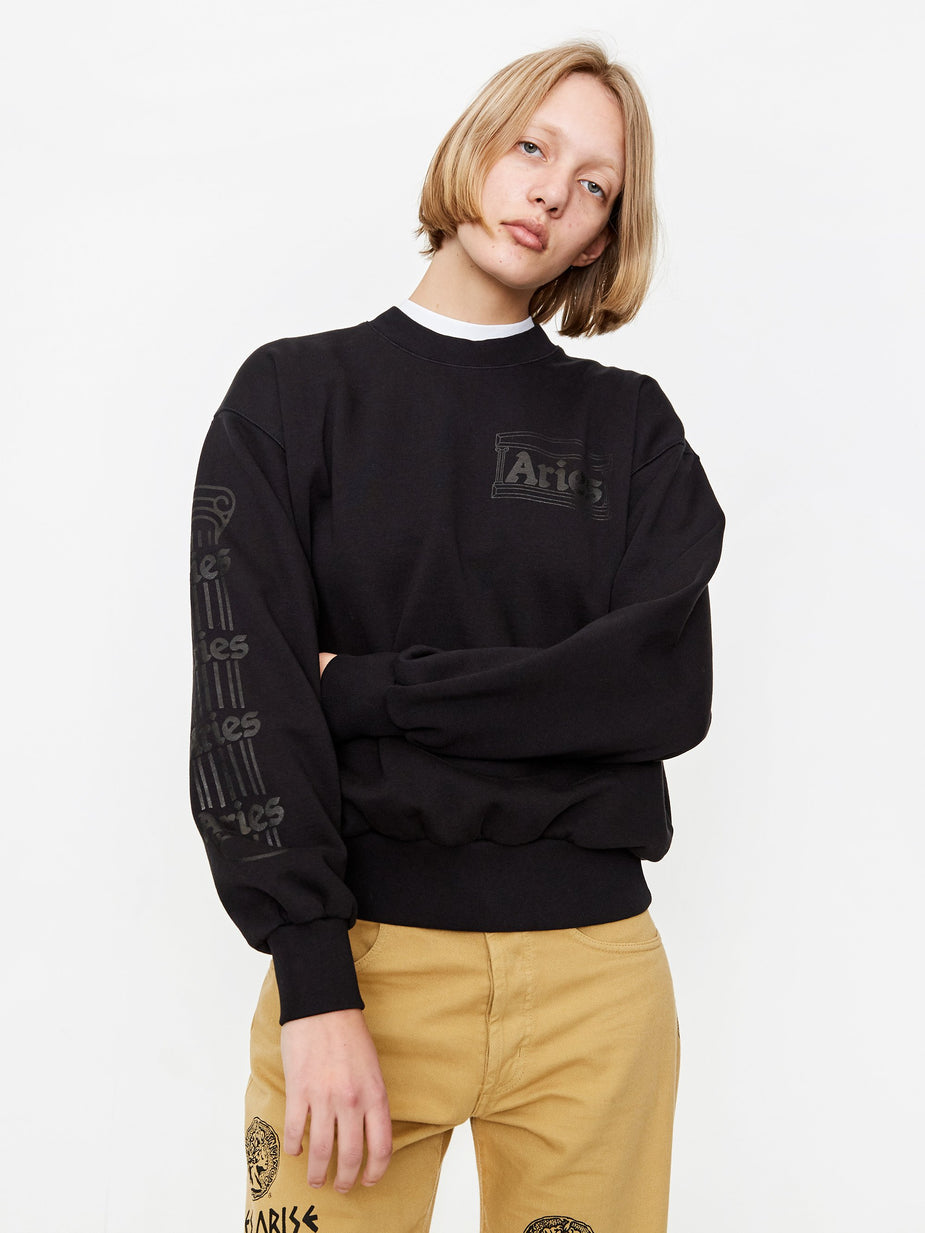 Aries Aries Column Sweatshirt - Black - Black