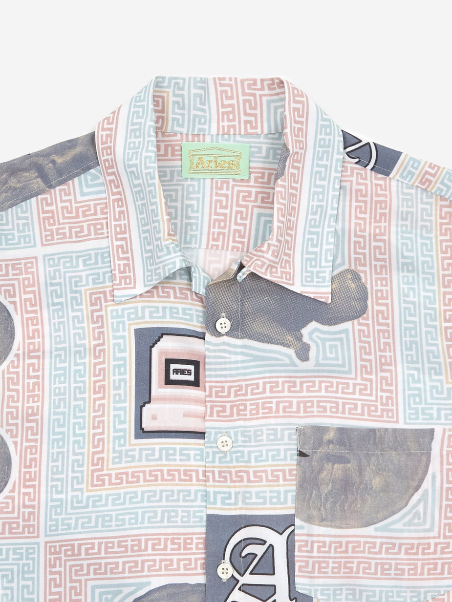 Aries Aries Scarf Print Hawaiian Shortsleeve Shirt - Multi - Multi