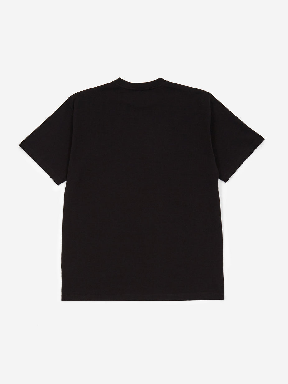 Aries Aries Temple Shortsleeve T-Shirt - Black/Black - Black