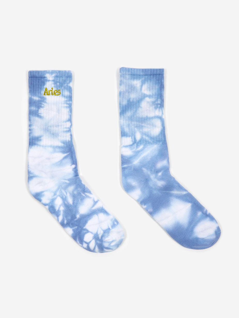 Aries Aries Tie Dyed Jacquard Sports Sock - Lilac - Purple