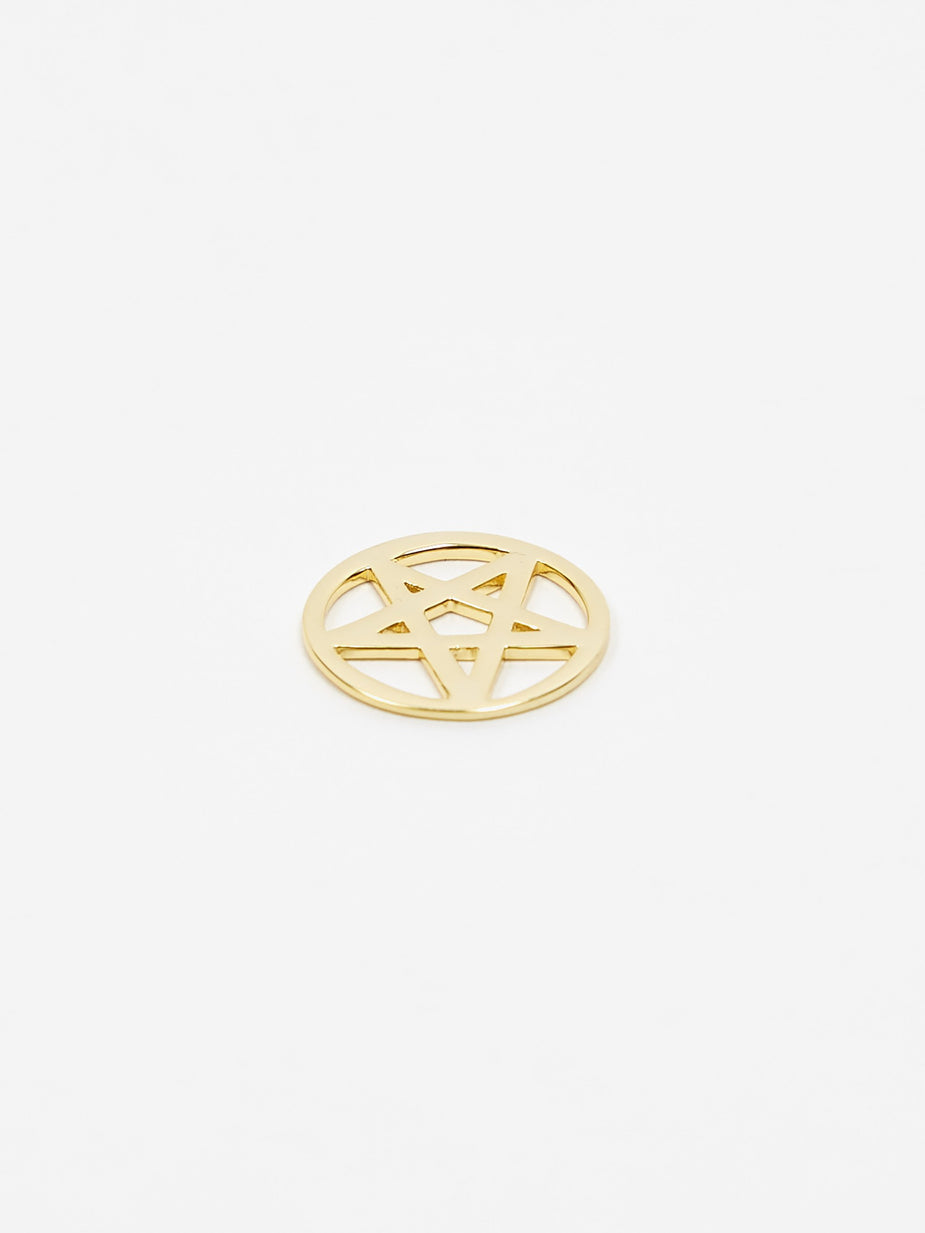 Aries Aries x Hillier Bartley Satan Star Charm - 14k Gold Plated - Gold