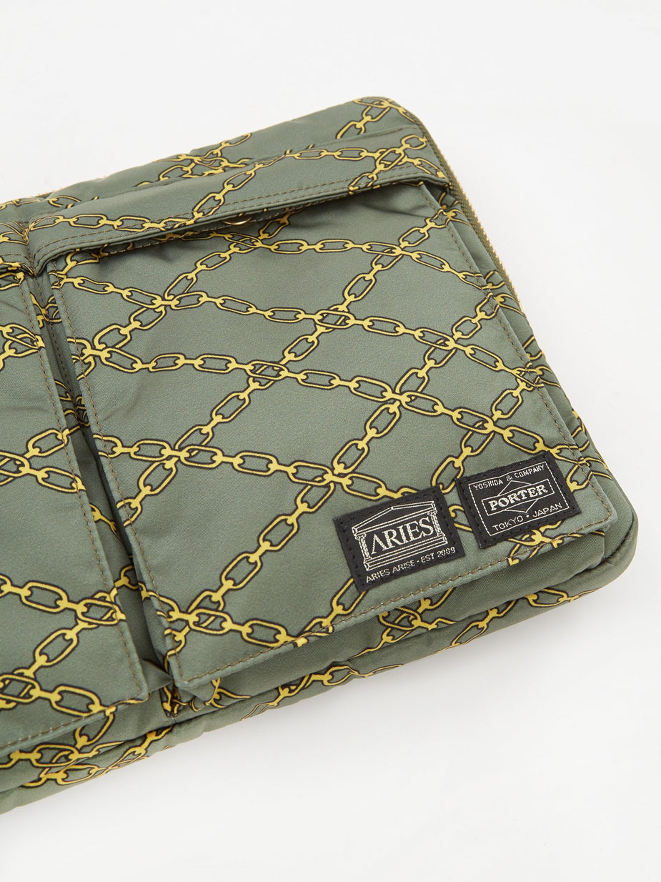 Aries Aries x Porter Yoshida & Co Document Case - Green - Green