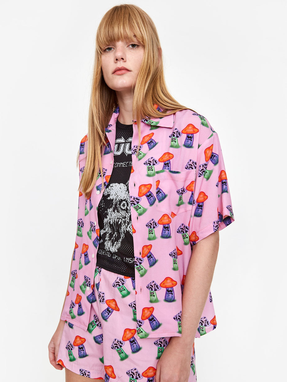 Ashley Williams Ashley Williams Tropic Shirt - Pink Mushroom - Pink
