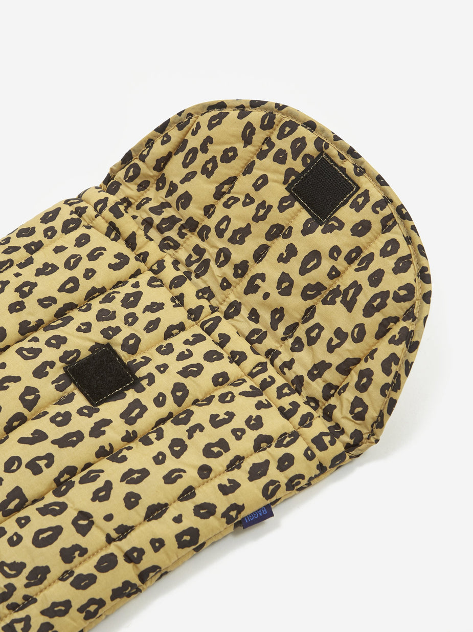 Baggu Baggu Puffy Laptop Sleeve 16 Inch - Honey Leopard - Brown