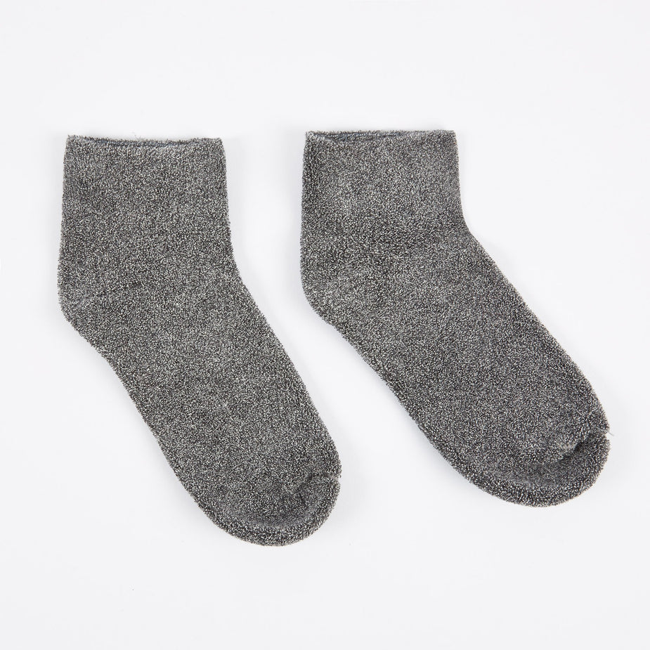 Baserange Baserange Buckle Ankle Socks - Grey - Grey