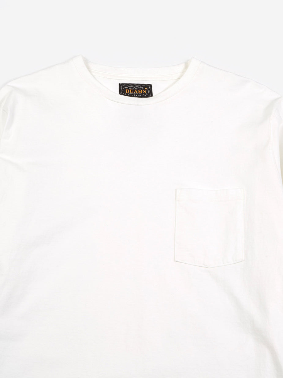 Beams Plus Beams Plus Longsleeve Pocket T-Shirt 40/2 - White - White