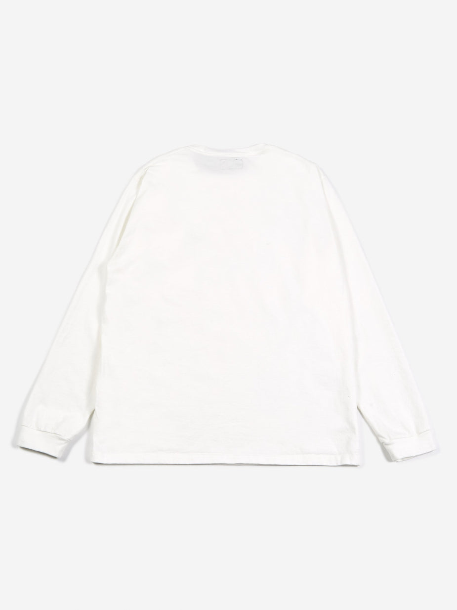 Beams Plus Beams Longsleeve Pocket T-Shirt - White - White