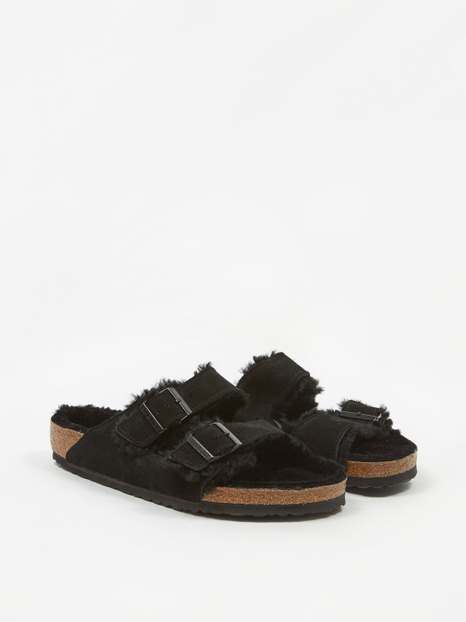 Birkenstock Birkenstock Arizona - Black Shearling - Black