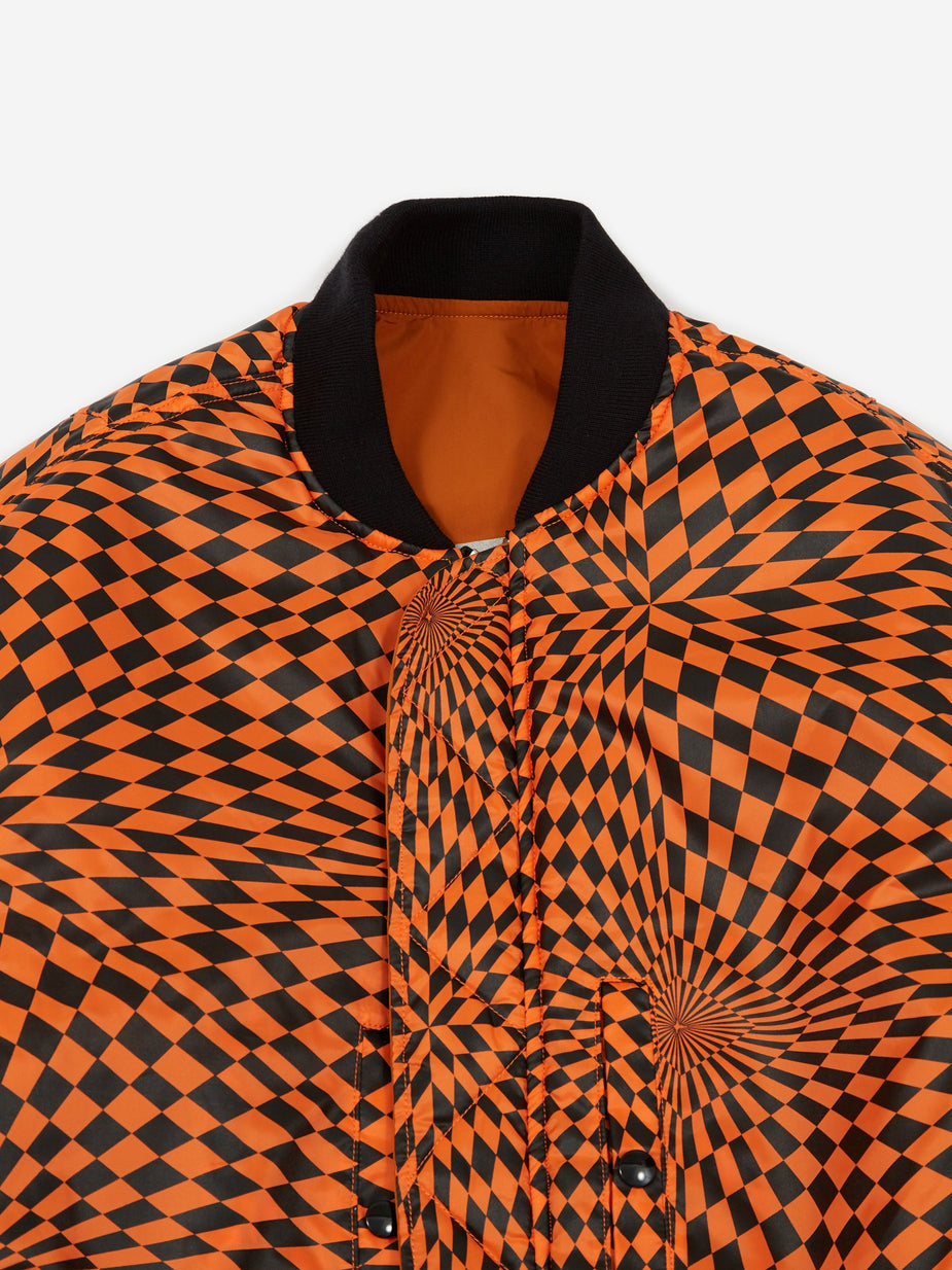 Black Weirdos Black Weirdos L-2A Flight Jacket - Orange - Orange