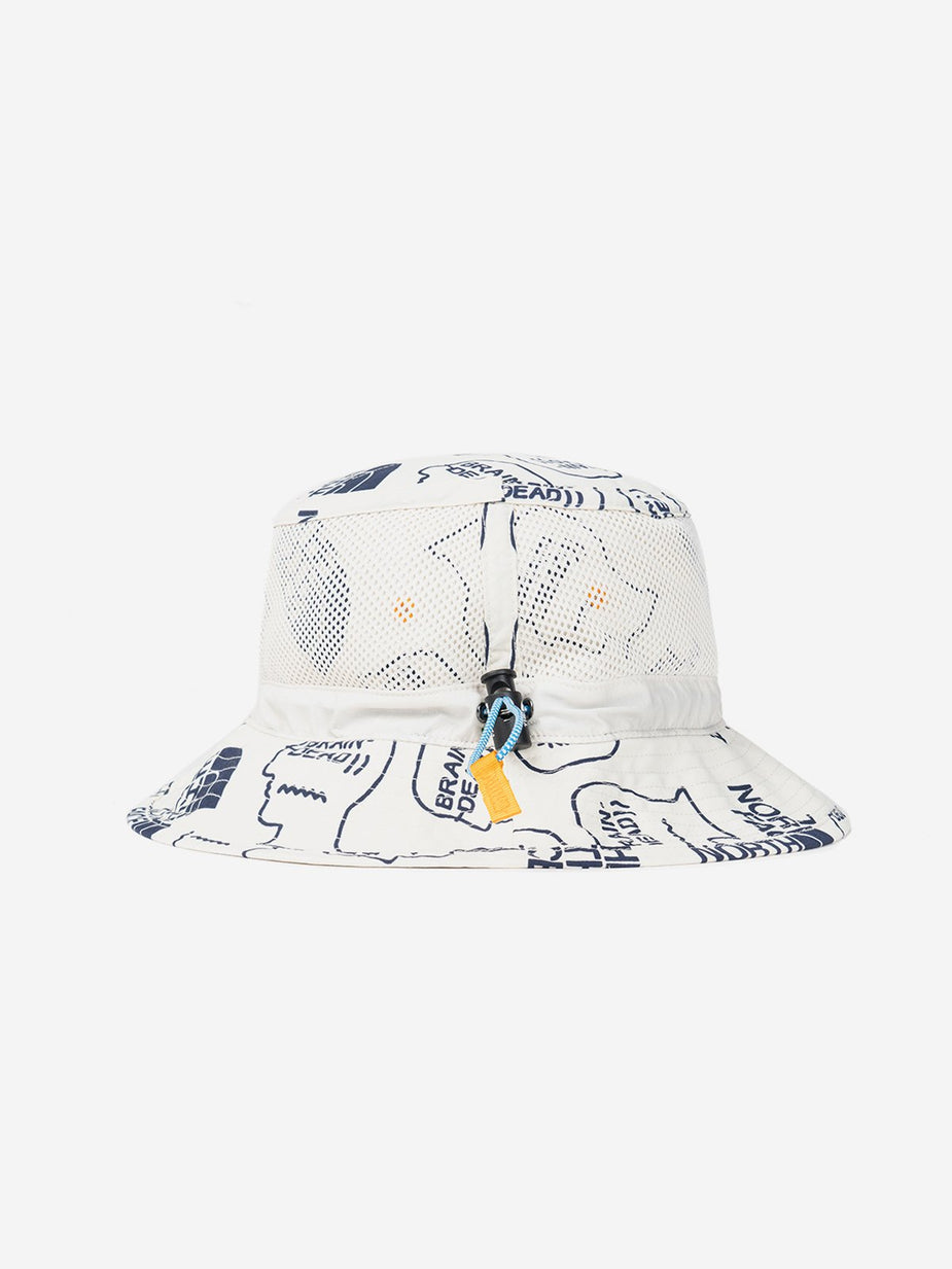 Brain Dead Brain Dead x The North Face Bucket Hat - Vintage White/ TNF Navy - White