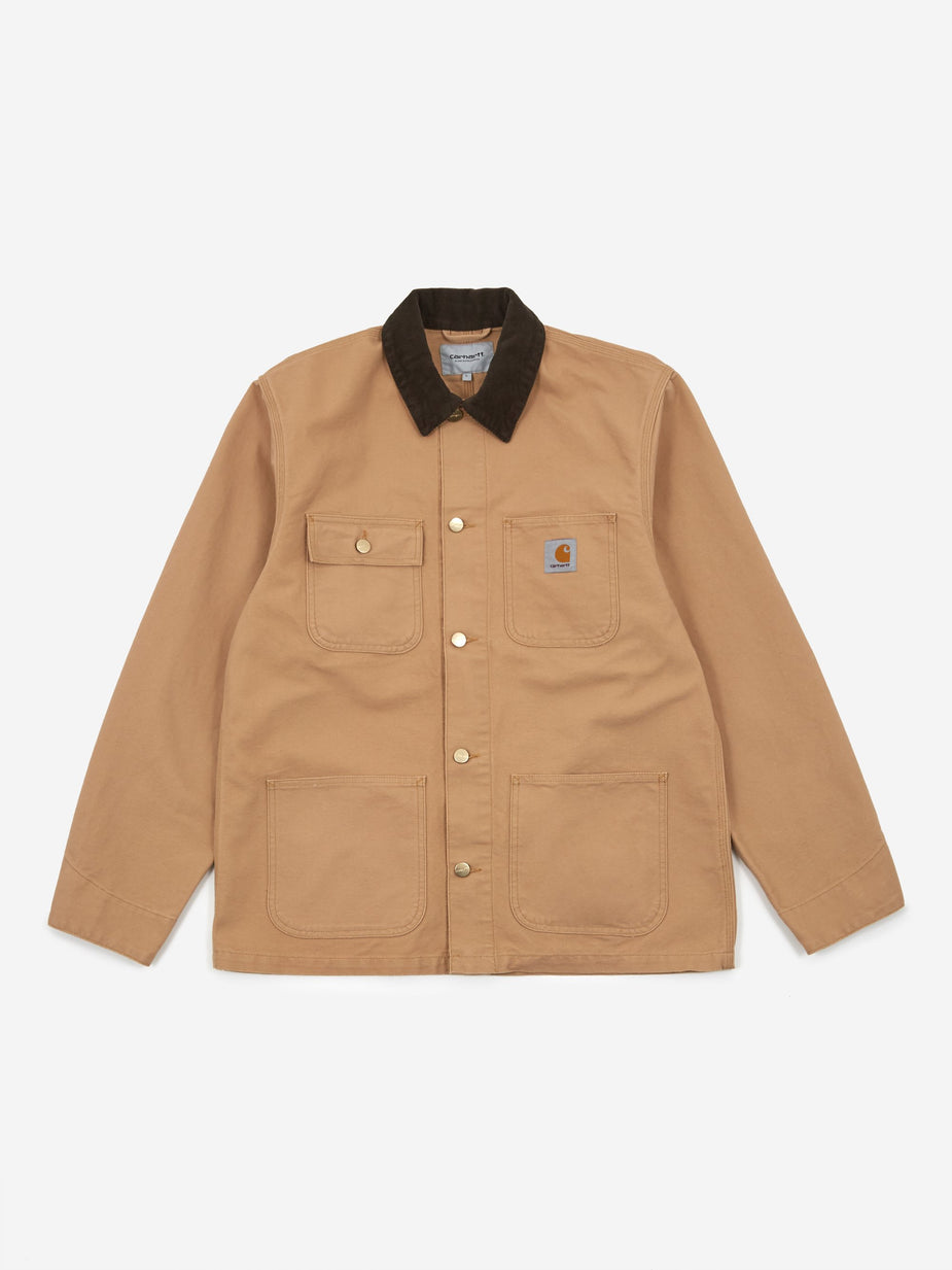 Carhartt WIP Carhartt WIP Michigan Coat - Dusty Hamilton Brown/Tobacco Rinsed - Brown