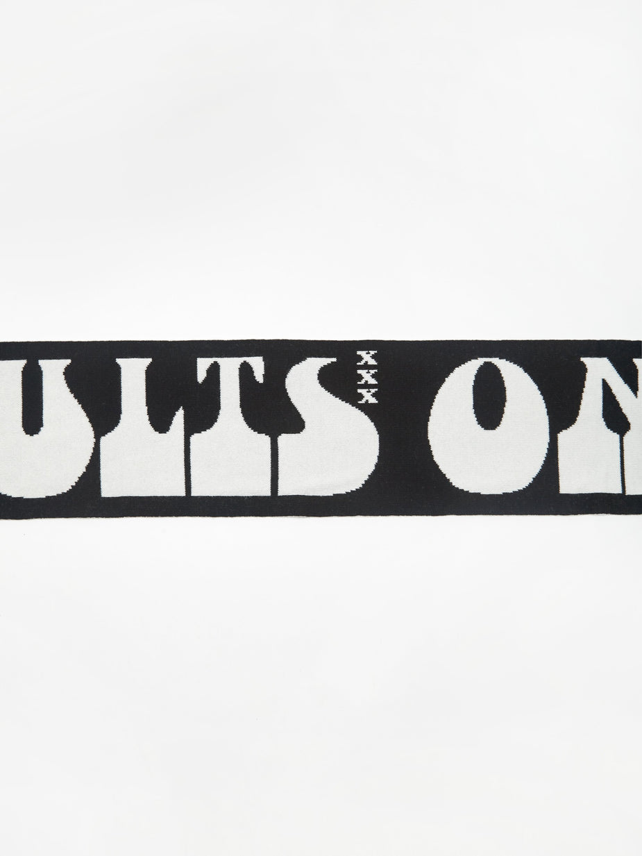 Carne Bollente Carne Bollente Adults Business Only Scarf - Black - Black