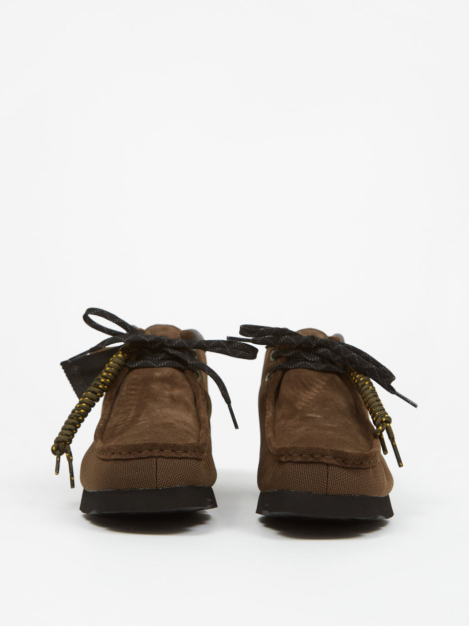 Clarks Clarks Wallabee Gore-Tex Boot - Olive Textile - Green