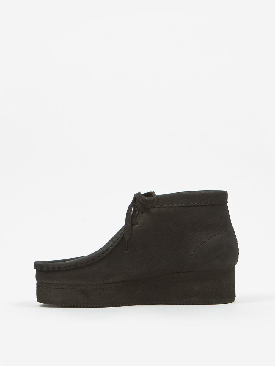 Clarks Clarks Wallabee Wedge - Black Nubuck - Black