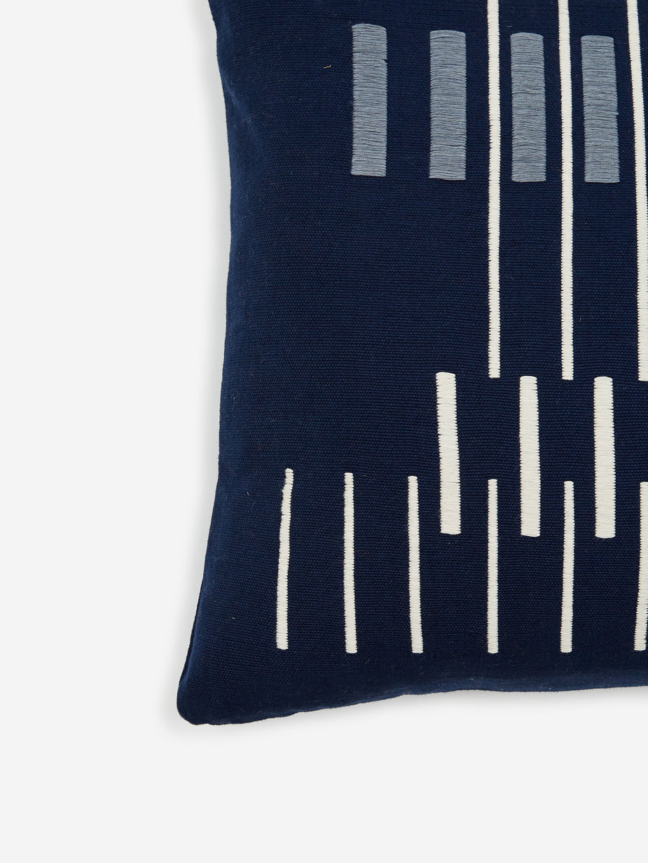 Collective Storie Collective Stories Parallel Cushion - Navy - Navy
