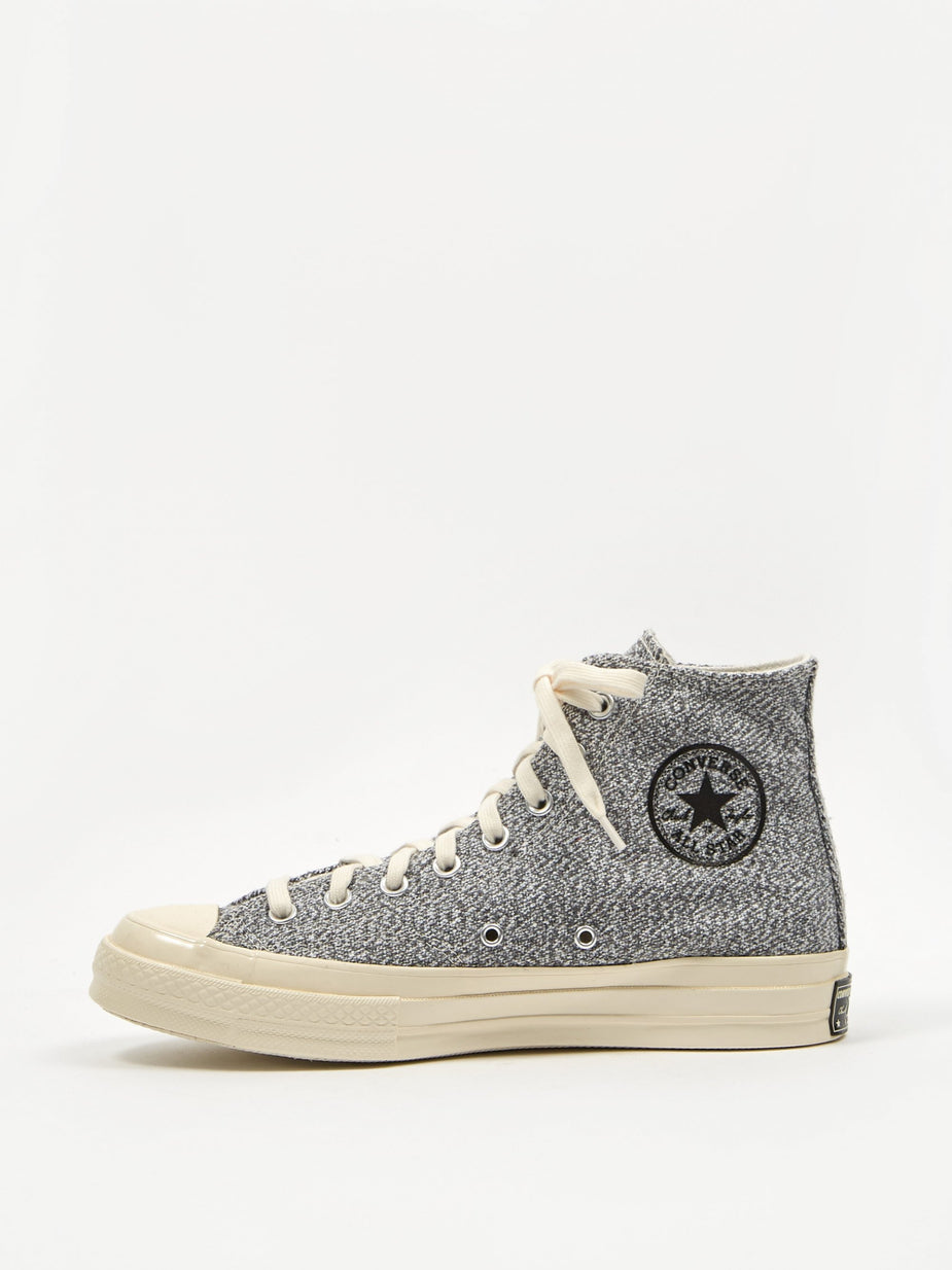Converse Converse Chuck Taylor All Star 70 Recycled Canvas Hi - Black/White/Egret - Black