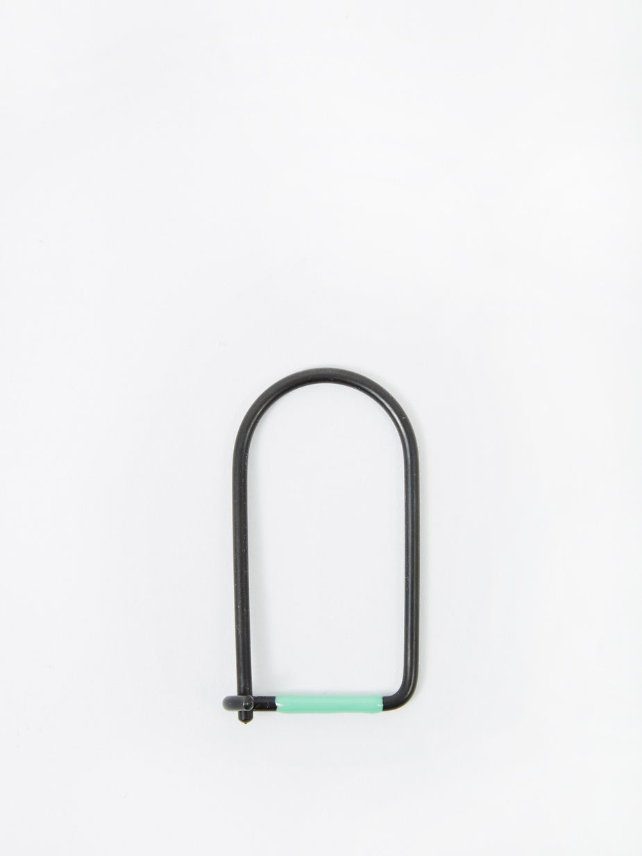Craighill Craighill Wilson Carbon Black Enamelled Keyring - Sea Foam - Green