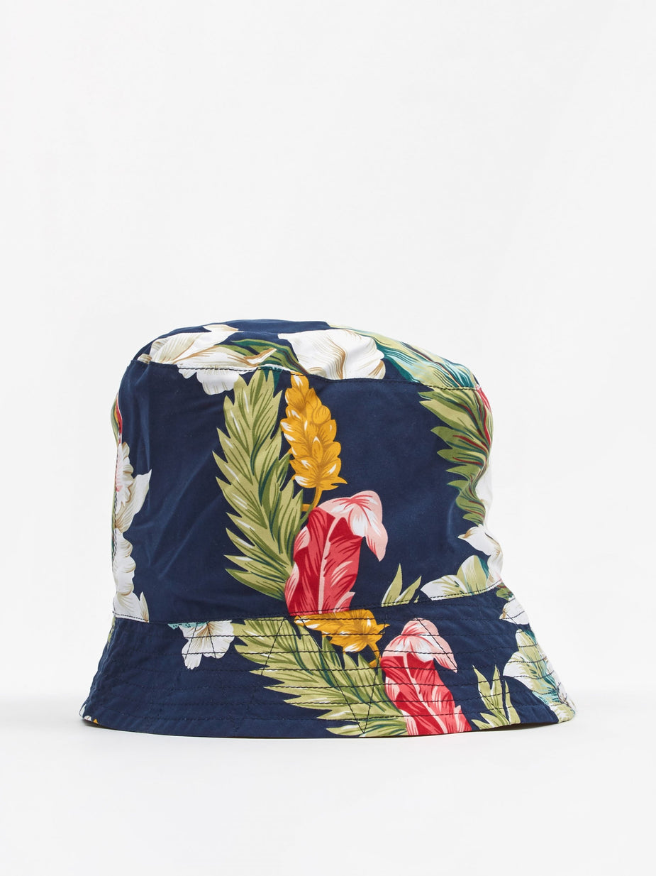 Engineered Garments Engineered Garments Bucket Hat - Navy Hawaiian Floral - Blue