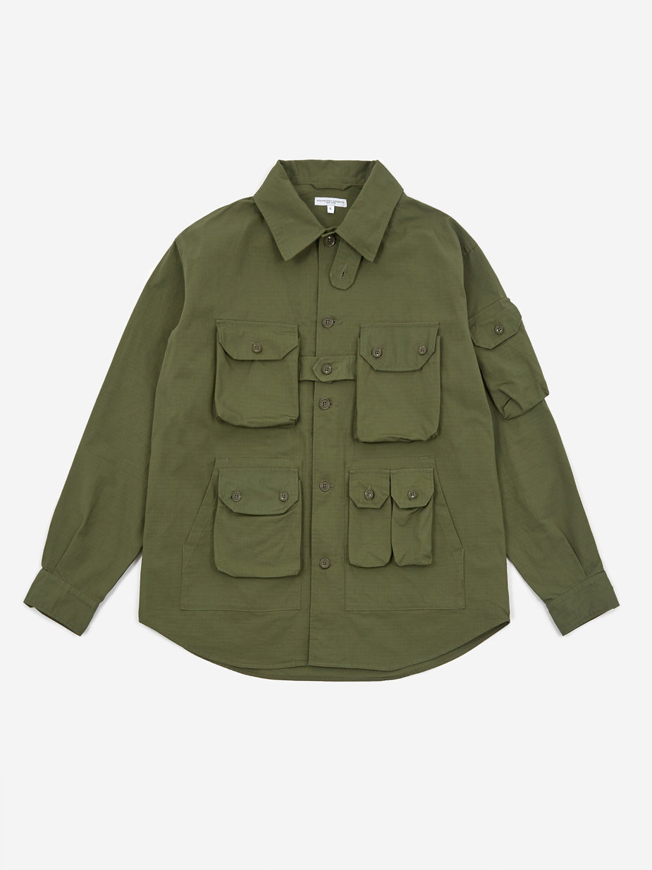 Engineered Garments Engineered Garments Explorer Shirt Jacket - Olive - Green