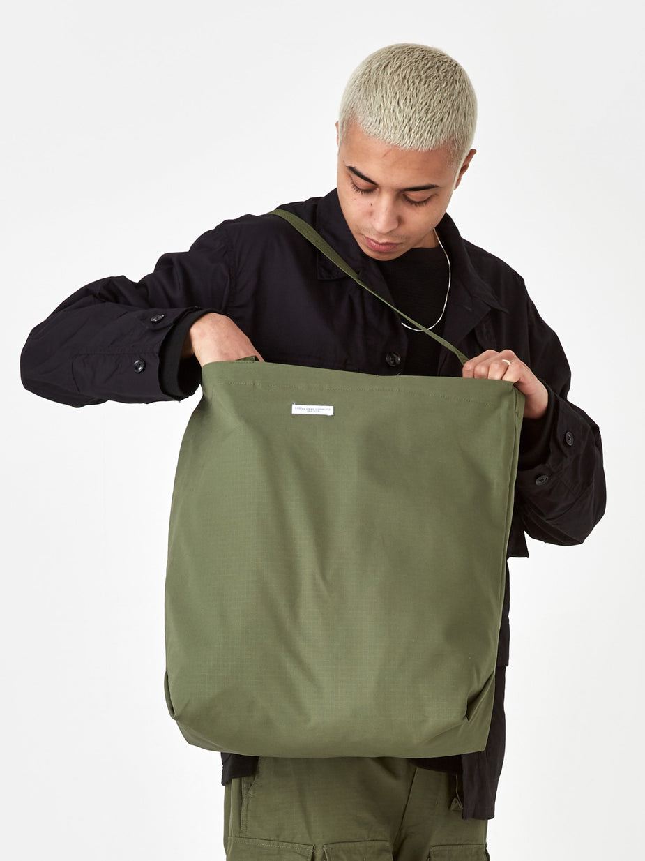 Engineered Garments Engineered Garments Ripstop Carry All Tote - Olive - Green