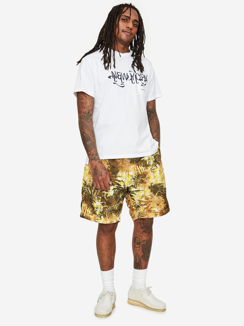 Engineered Garments Engineered Garments Sunset Short - Yellow Tropical Floral Print - Yellow