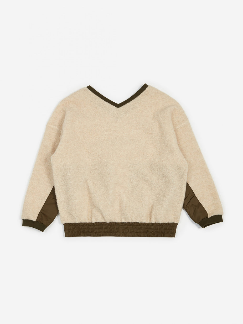 F/CE F/CE Swithing Fluffy Sweatshirt - Ivory - Neutrals