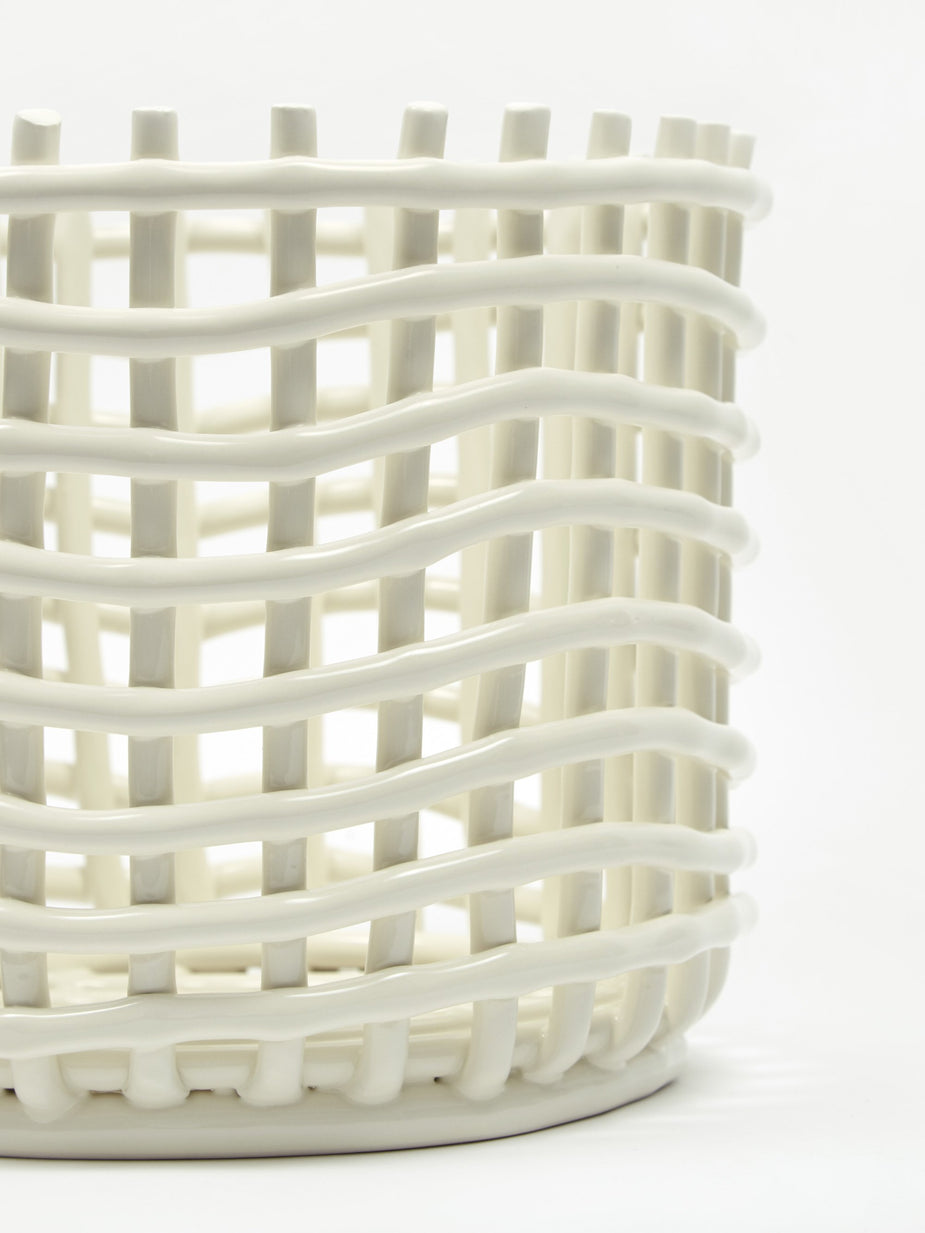 Ferm Living Ferm Living Ceramic Basket Small - Off White - White