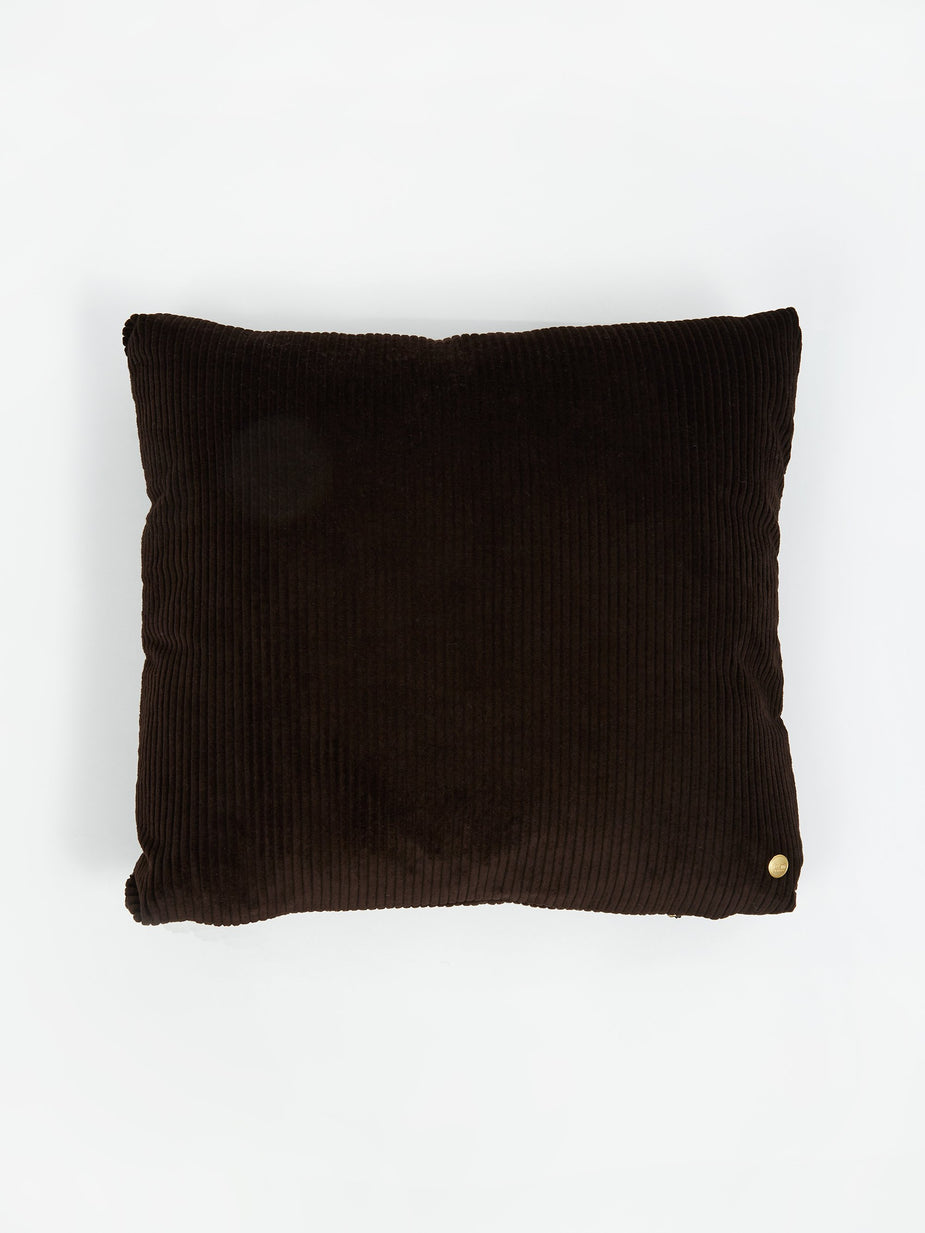 Ferm Living Ferm Living Corduroy Cushion 45x45cm - Chocolate - Brown