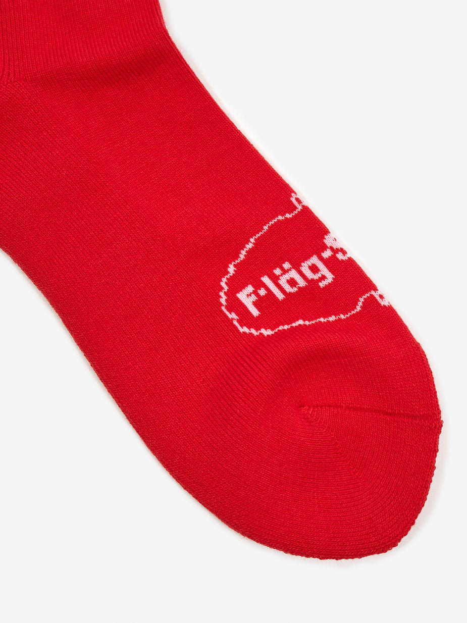 Flagstuff Flagstuff Ice Logo Sock - Red - Red