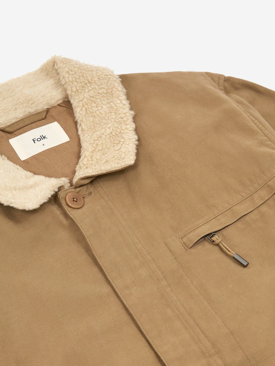 Folk Folk Alber Jacket - Tan - Brown