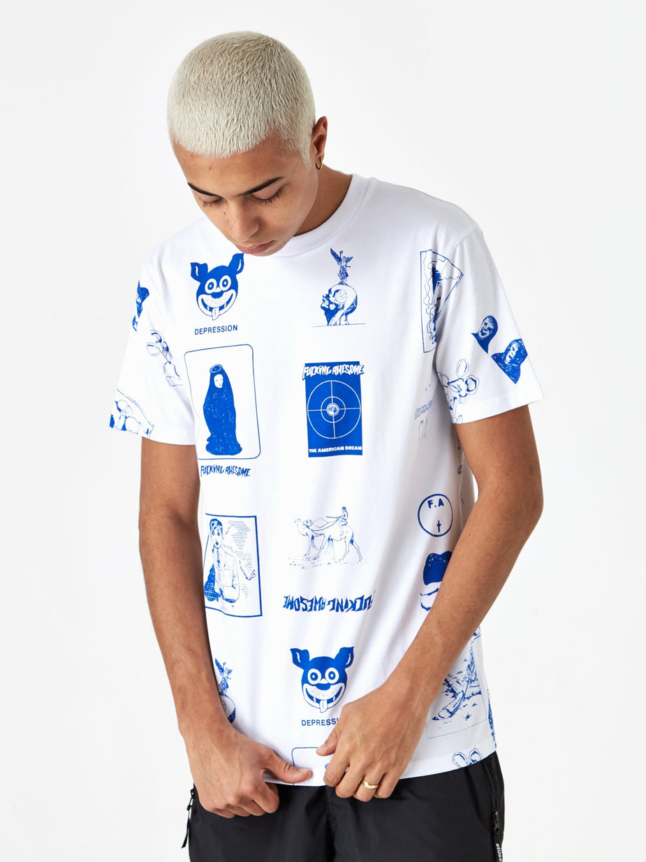 Fucking Awesome Fucking Awesome Cut Out 2 Shortsleeve T-Shirt - White - White