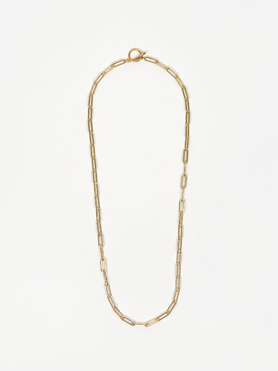 Gabriela Artigas Gabriela Artigas Rectangular Link Chain Necklace With Tusk Clasp - Gold Filled - Gold