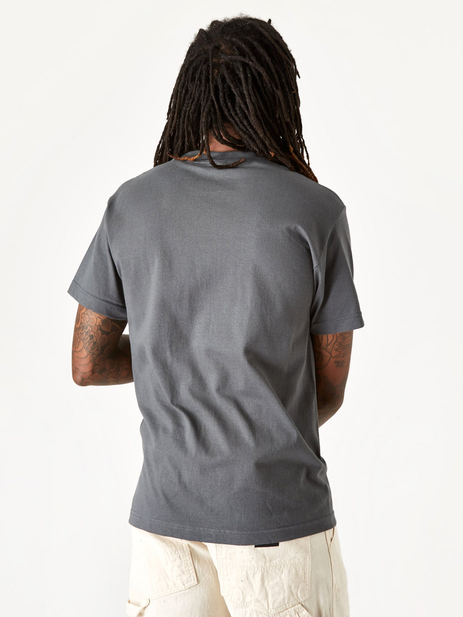Gasius Gasius Eggy Shortsleeve T-Shirt - Charcoal - Grey